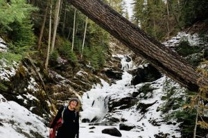 Image 12 Evelyn Falls in winter. A great four-season hike!