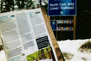 Image 15 North Fork Wild Lower Trailhead pictured with The Shuswap Traill Alliance Trail Guide