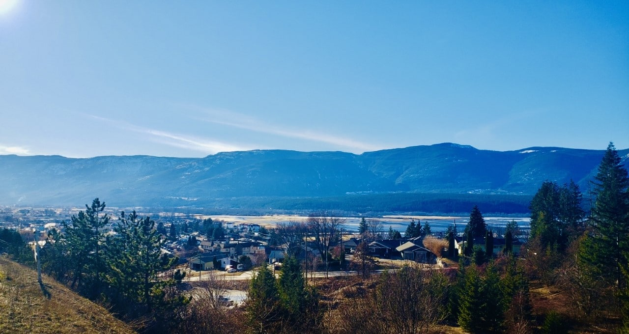Views over Salmon Arm, Shuswap Lake, and the Fly Hills