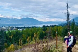 Image 7 Little Mountain Park Trail System Salmon Arm B.C. Views over Salmon Bay and Tappen Bay in the distance!