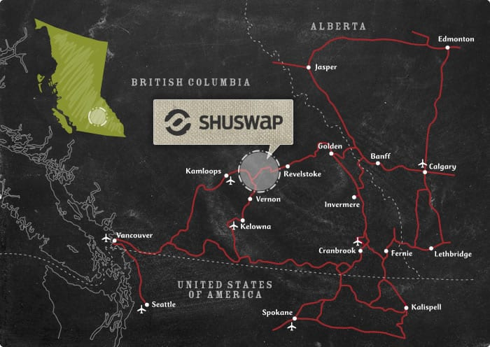 See Also: Map of the Shuswap Area